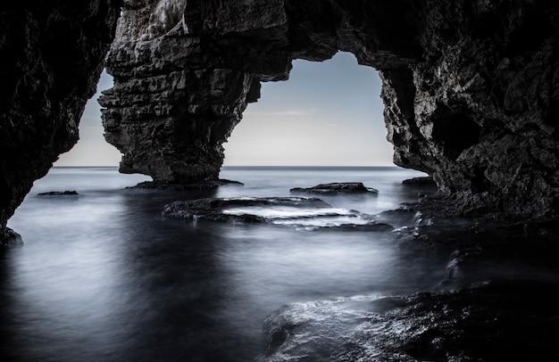 岩の間の海水長時間暴露