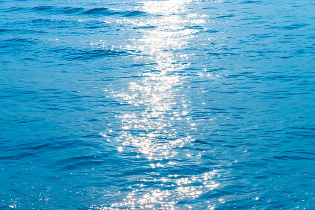 Sea water and sun flare