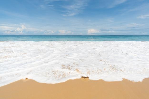 Sea wave on sandy beach