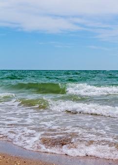 Sea waves. coast. waves in sea