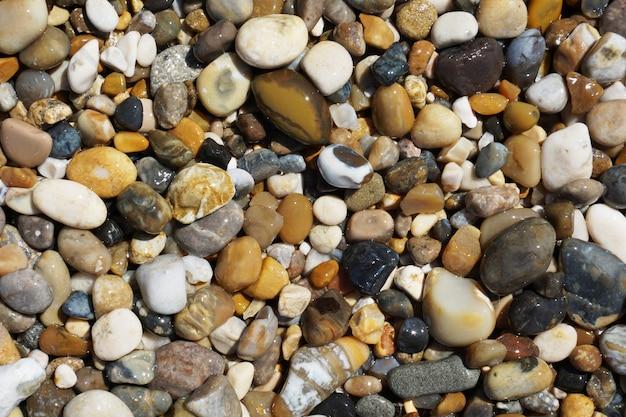 Sea wet pebbles