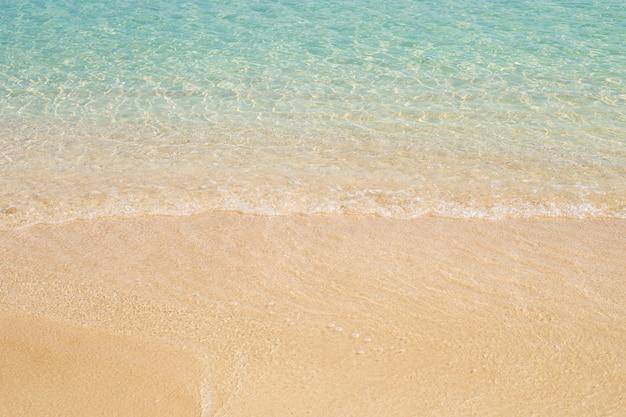 파도가 잔잔한 바다와 모래 사장