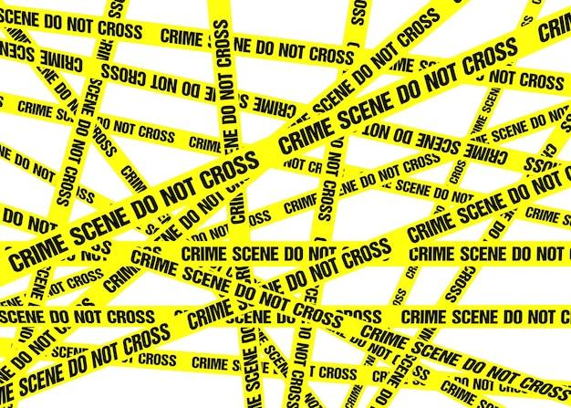 A sea of yellow crime scene do not cross tape