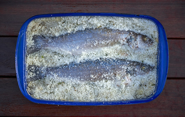 Seabass salt recipe lubina a la sal from mediterranean