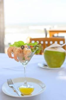 Seafood at the beach.
