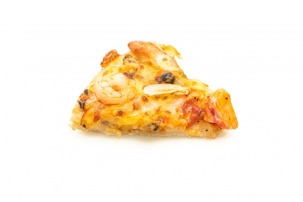 Seafood pizza isolated