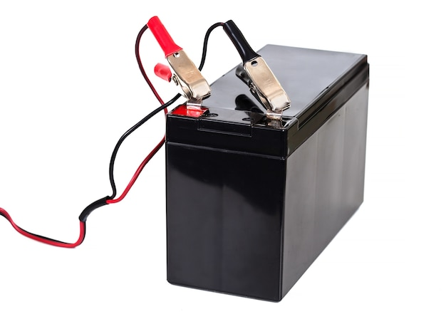 Sealed  battery isolated on white background
