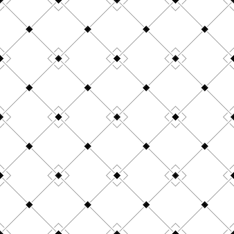 Seamless black and white geometric pattern in an oblique cell with squares