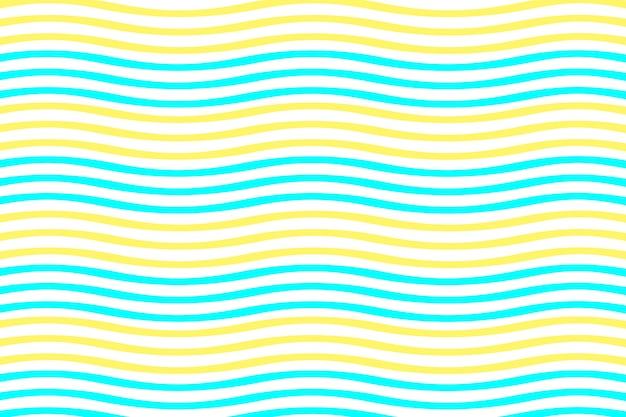 직물 인쇄 및 포장을 위한 착시 패턴의 원활한 파란색과 노란색 파도