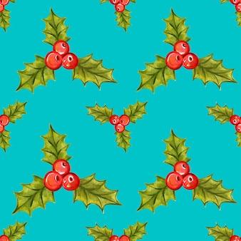 홀리 베리와 함께 완벽 한 크리스마스 패턴