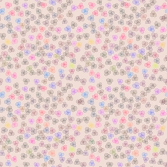 Seamless colorful flowers pattern on pink background