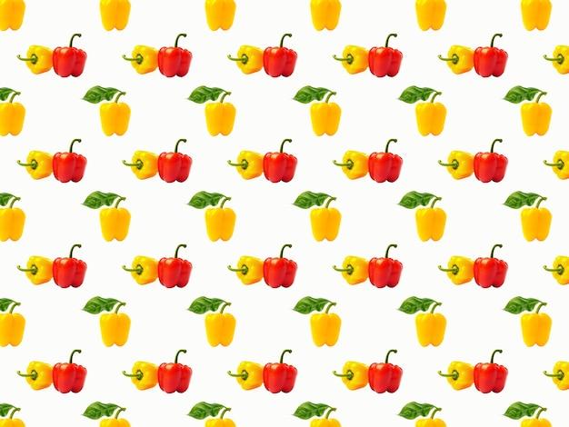 Бесшовный красочный фон с разноцветными перцами