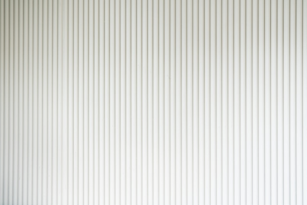 Seamless corrugated wood sheet facade in white color