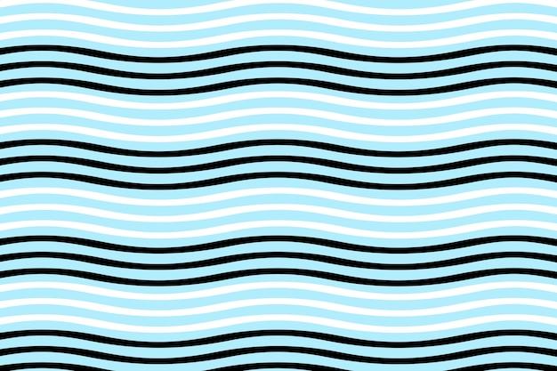 직물 인쇄 및 포장을 위한 착시 패턴의 매끄러운 어둡고 푸른 파도