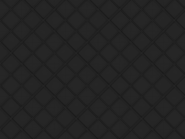 Seamless dark black square grid art design shape pattern wall