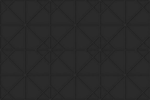 Seamless dark tone black grid square art pattern wall background.