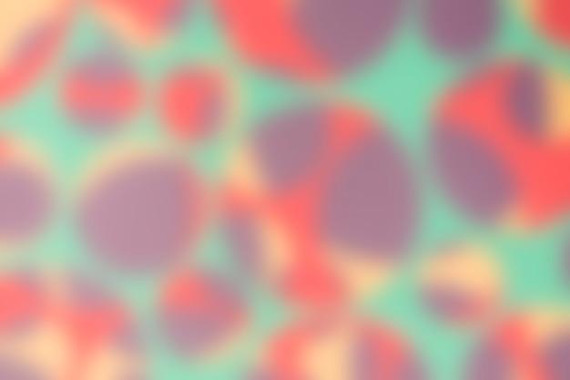 Modello senza cuciture defocused con cerchi multicolori