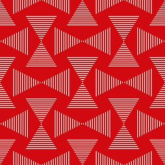 Seamless geometric pattern of stripes and triangles abstract background
