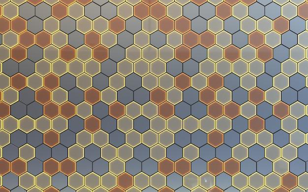 월페이퍼 패브릭 backgraound에 대한 현실적인 3d 육각형 템플릿으로 완벽 한 기하학적 패턴