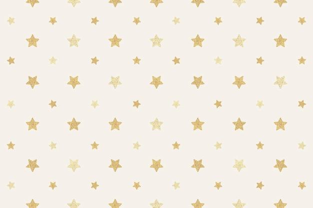 Бесшовные блестящие золотые звезды фон дизайн ресурса