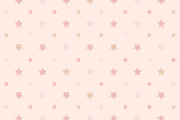 Seamless glittery pink stars background