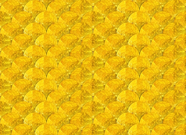Seamless golden circle wave or fish scale style texture backgroun