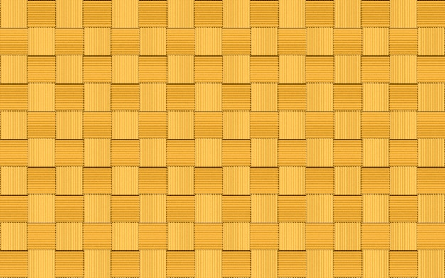 Seamless golden small square shape tiles block wall background.