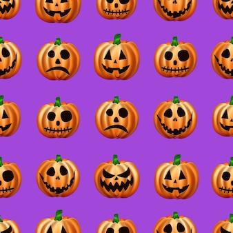 Бесшовные хэллоуин. изображение оранжевых тыкв.
