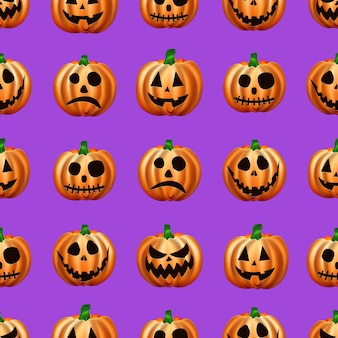 Seamless halloween pattern. image of orange pumpkins.