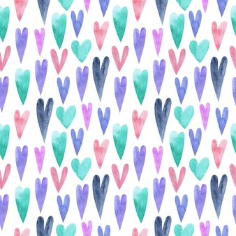 Seamless hand painted patercolor pattern. repeatable background.
