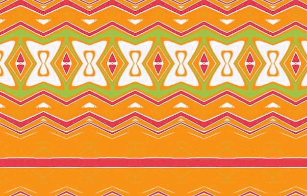 섬유 디자인 벽지 표면 질감 포장에 대 한 원활한 ikat 패턴 추상적인 배경