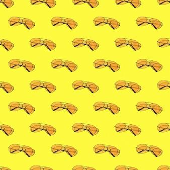 노란색 선글라스와 원활한 루핑 패턴