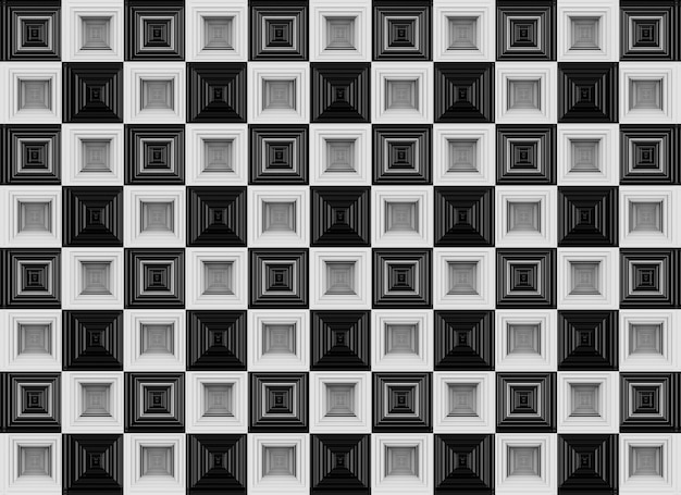 Seamless luxurious white and black squares grid geometic