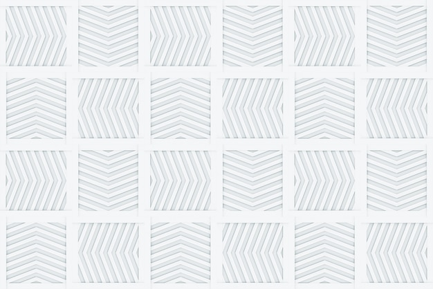 Seamless modern arrow square shape ceramic tile wall design background.