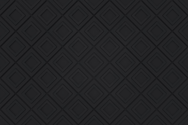 Seamless modern black diangonal square pattern grid blocks wall background.