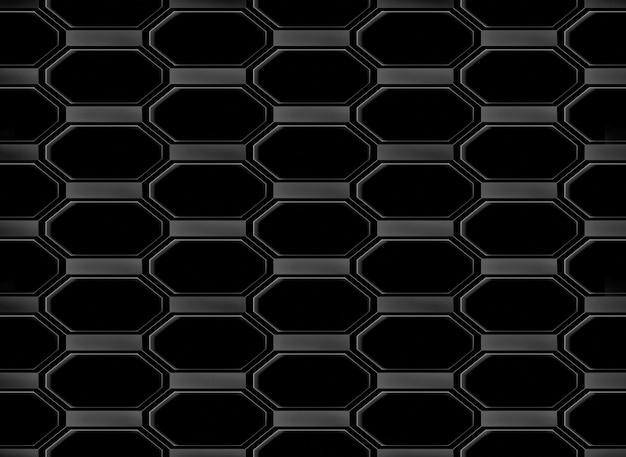 Seamless modern black octagonal shape pattern design wall background.