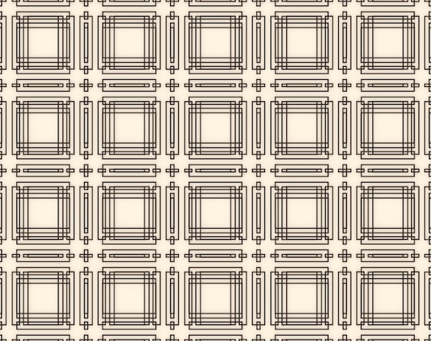 シームレスなモダンな幾何学的な正方形の長方形のラインアジアのパターンスタイルの壁の背景。