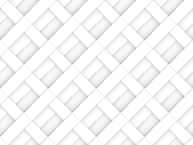 Seamless modern luxurious diagonal white brick square pattern wall background.