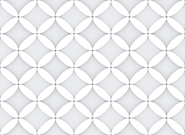 Seamless modern oval in flower shape pattern design fabric wall