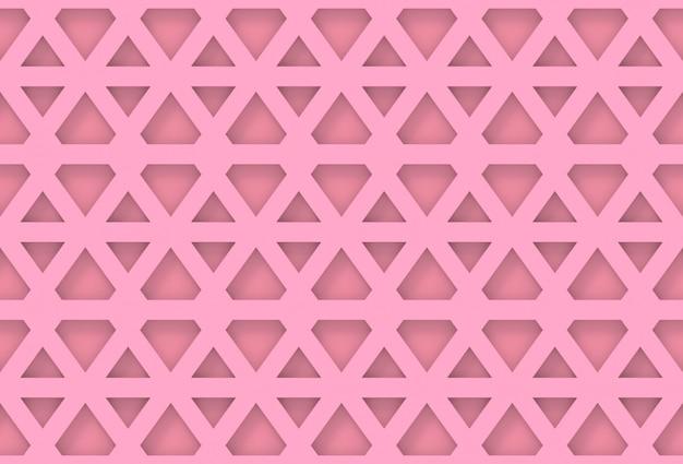 Seamless modern pink hexagonal geometric pattern wall