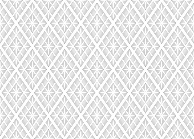 Seamless modern soft light white square grid pattern wall background.
