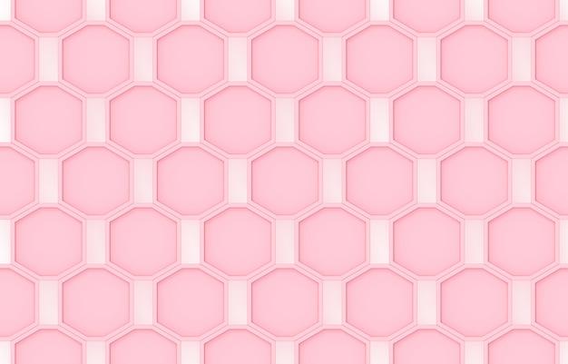Seamless modern sweet pink octagonal shape pattern design wall background.
