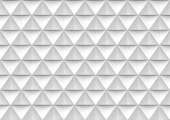 Seamless modern white and gray triangle polygon shape pattern wall background.