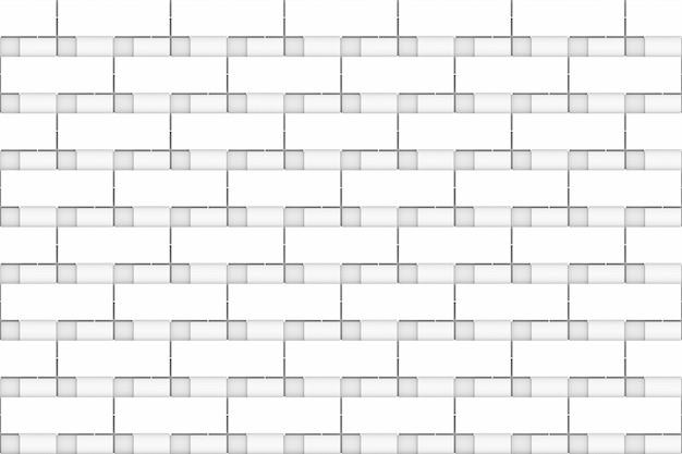 Seamless modern white brick block design wall background.