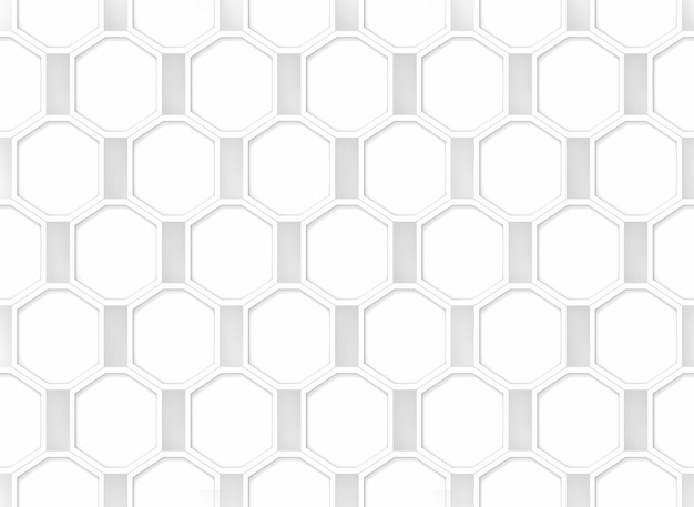 Seamless modern white octagonal shape pattern background.