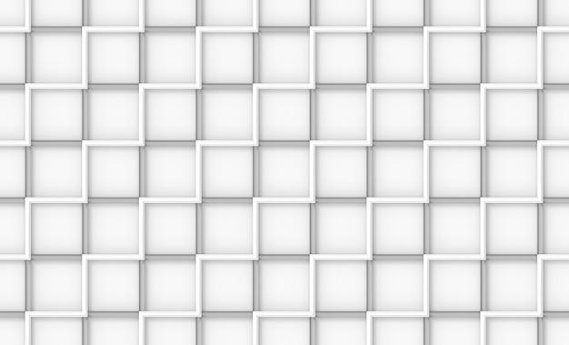 원활한 현대 흰색 사각형 벽돌 타일 블록 벽 배경.