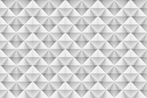 Seamless modern white square grid art pattern wall background.