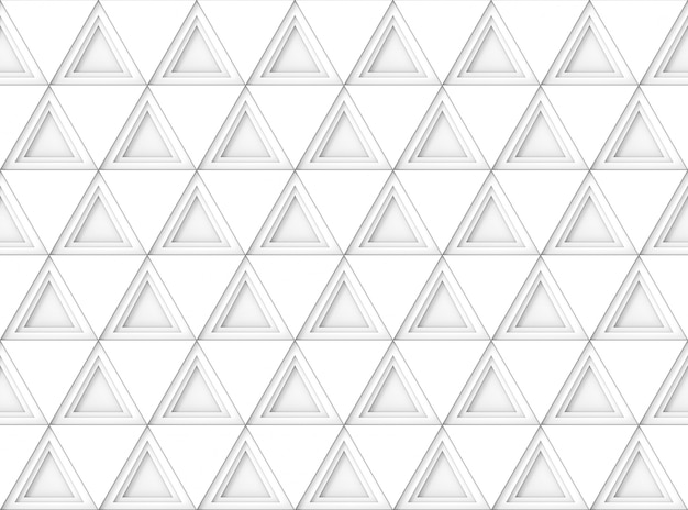 Seamless modern white triangle shape tile pattern wall background.