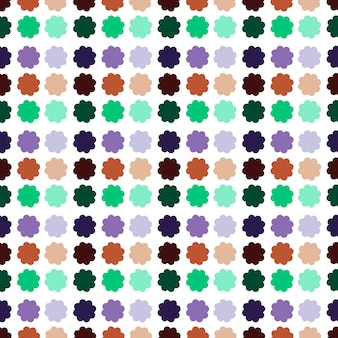 Seamless multicolor flowers pattern background