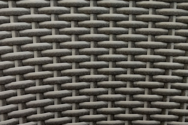 Seamless natural white bamboo wicker background, wicker texture.